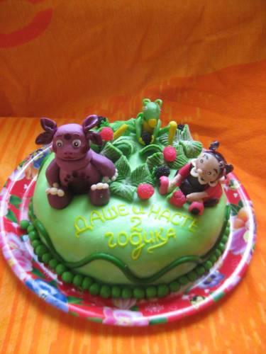 Рецепт торта лунтика с мастикой с фото